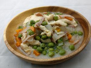 Vol.1928今週のレシピ(鶏胸肉とグリンピースのスープ煮 )